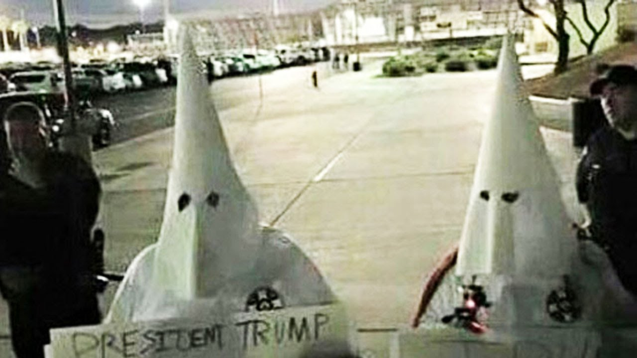 Trump Supporters Seen Wearing KKK Robes thumbnail