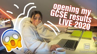 OPENING MY GCSE RESULTS 2020 LIVE   what i got in my GCSEs   results day 2020
