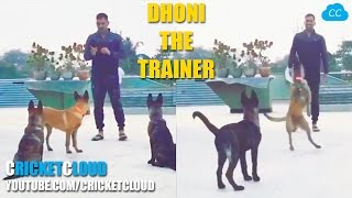MS DHONI Playing with his DOGS and Lovely DAUGHTER !!