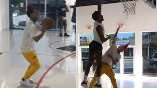 6ix9ine Shows Off His Basketball Skills vs Victor Oladipo in a 3 Point Contest!