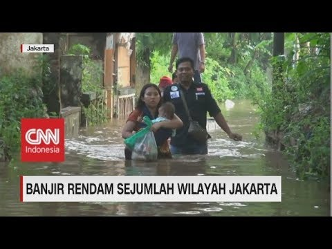 Sejumlah Wilayah Jakarta Banjir dengan Ketinggian Air Hingga 2 Meter