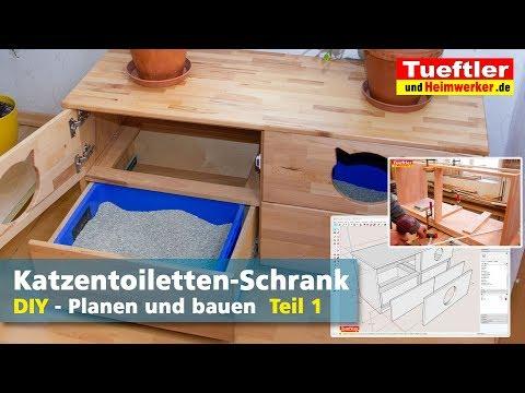 Katzentoiletten-Schrank selber bauen- Teil 1 - Tüftler DIY