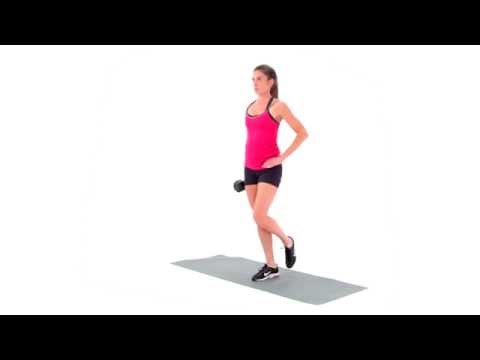 Dumbbell Single Leg Calf Raise
