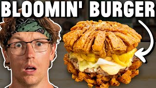 Giant Bloomin' Onion Burger