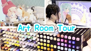 My Art Room MAKEOVER And TOUR!! Crafts, Squishies, Copic Markers...