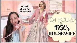 I Lived Like A 1950s HOUSEWIFE For 24 HOURS! | Emelyne