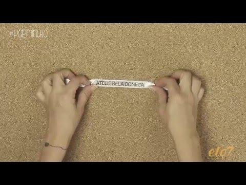¿Cómo hacer una etiqueta en cinta de raso? #DIYMINUTO