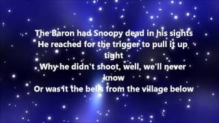 The Royal Guardsmen - Snoopy's Christmas (Lyrics)