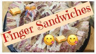 FINGER SANDWICHES/PARTY SANDWICHES 🥪😋