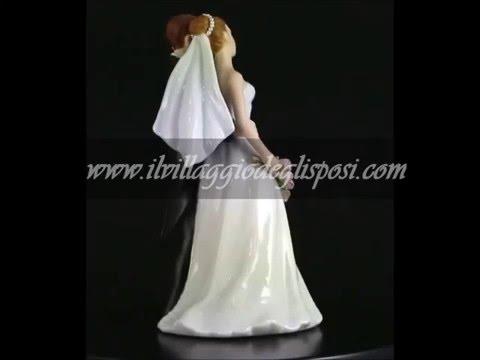 Video - Cake topper con Sposa con bouquet di tulipani rosa