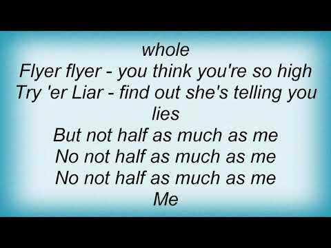 Suzi Quatro - Half As Much As Me Lyrics