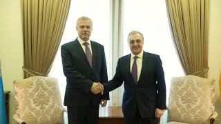 Rencontre entre Zohrab Mnatsakanyan et le Secrétaire général de l'OTSC