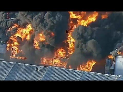 Πυρκαγιά σε εργοστάσιο επεξεργασίας λυμμάτων στη Μελβούρνη…