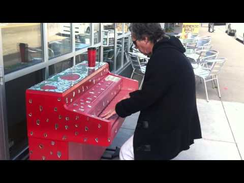 """""""The Broken Bossa"""" ...On a Street Piano on Grand Ave in Saint Paul"""