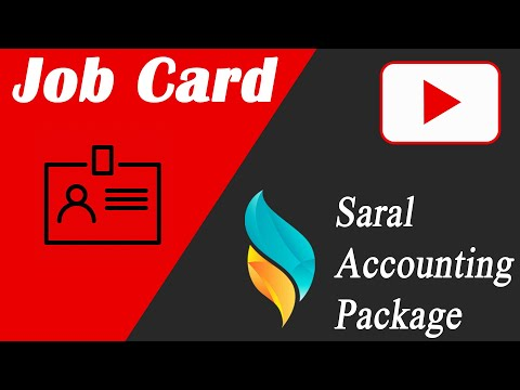 Job Card Entry & Reports in Saral | Saral Accounting Package