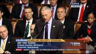 Rep. Trey Gowdy house floor jan 14 2015