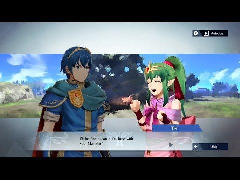 Fire Emblem Warriors - Marth & Tiki Support Conversation