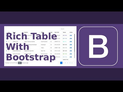 Feature-rich Data Table with Bootstrap