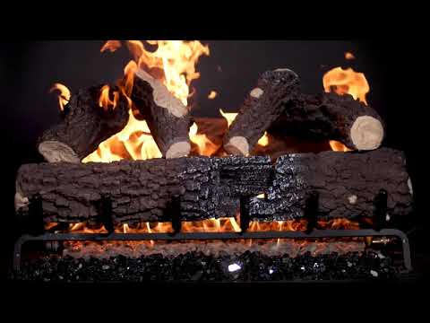 BBQGuys 30 Inch Charred Canyon Fire Oak Gas Logs