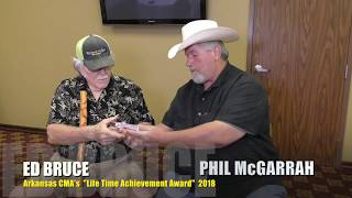 "Ed Bruce Accepts Arkansas CMA ""Life Time Achievement Award 2018"" presented by Phil McGarrah"