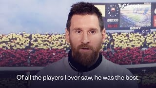 Lionel Messi finally reveals his greatest player of all time | Oh My Goal