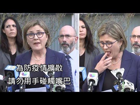防疫官員呼籲民眾不要用手碰觸嘴巴,下一秒馬上用舌頭舔手