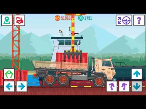 SUPER GAME BEST TRUCKER LITE TRANSPORTING ELECTRICAL PARTS TO A CAR FACTORY