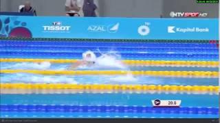 Beste Samanci vs Josefine Pedersen Baku 2015 100 meter Breaststroke Semifinal