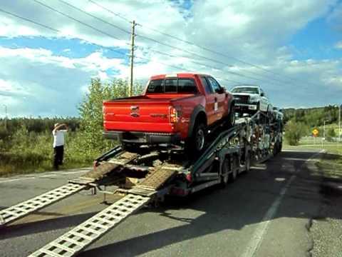På det sättet man inte ska lasta en helt ny Ford Raptor