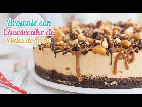 Brownie con Cheesecake de Dulce de Leche   Quiero Cupcakes!