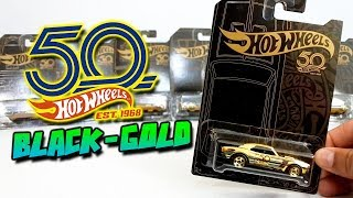 HOT WHEELS BLACK & GOLD 50TH ANNIVERSARY 2018