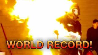 Human On Fire World Record (Action Factory)