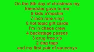 X12 Days Of XXXMASX-From First To Last (LYRICS)