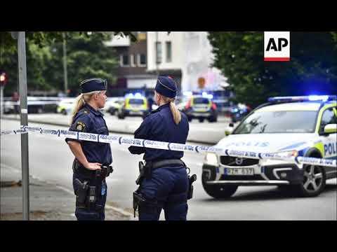 STILLS Four injured in shooting in Sweden