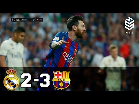 Real Madrid vs Barcelona 2-3 ● All Goals and Full Highlights ● English Commentary ● 23-04-2017 HD