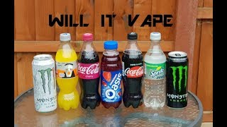 Will It Vape? Coke Zero, Sprite Zero, Fanta Zero, Monster, Monster Ultra Zero and Oasis.