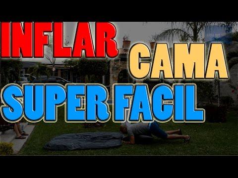 COMO INFLAR UN COLCHON INFLABLE SIN INFLADOR O BOMBA! | NQUEH