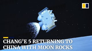 Chang'e 5 returning to China with lunar rock samples