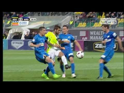 ΒΙΝΤΕΟ: ΑΕΚ 2-1 ΑΠΟΕΛ, στιγμιότυπα αγώνα