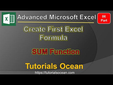 Part 06: How to Create First Excel Formula with Sum Function in Urdu/Hindi