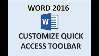 Word 2016 - Quick Access Toolbar - How to Customize Add Find Button & Commands in Microsoft MS 365