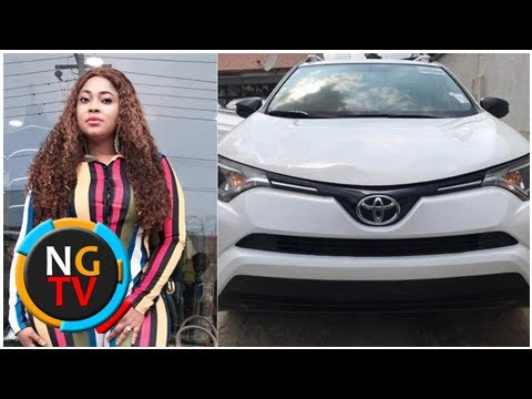 Nigerian actress Biodun 'Omobutty' Okeowo acquires a new SUV worth over N10m