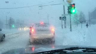 Снегопад в Могилеве ДТП по ул. Турова 03.03.2018г