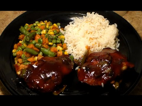 Easy Quick Dinner Recipe For College Dorm Students & Beginners: BBQ Chicken, Mixed Vegetables & Rice