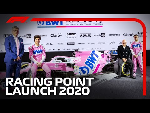 Racing Point Launch 2020 Livery with Perez and Stroll