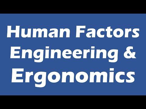 #01 Human Factors Engineering And Ergonomics - Ergonomics and ...