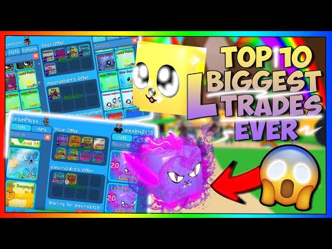 😱 TOP 10 BIGGEST L TRADES IN BUBBLE GUM SIMULATOR LEVIATHAN, KING DOGGY, AND MORE🤦‍♂️ (March 2020)