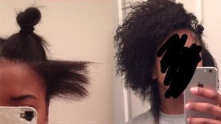 FAST GROWTH! 1 YEAR NATURAL HAIR JOURNEY/ TRANSITION/DAMAGED TO NATURAL!
