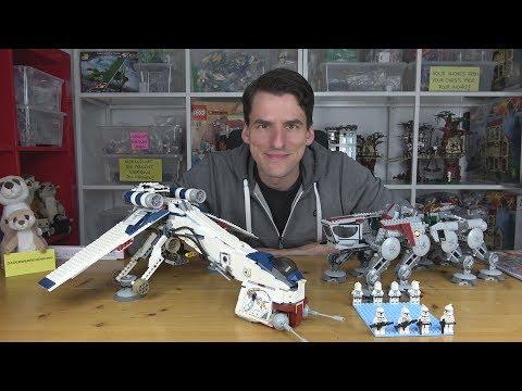Ein sensationelles Clone Wars Set! 10195 Republic Dropship mit AT-OT von LEGO® Star Wars