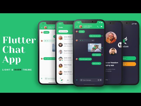 Chat/Messaging App Light and Dark Theme - Flutter UI - Speed Code